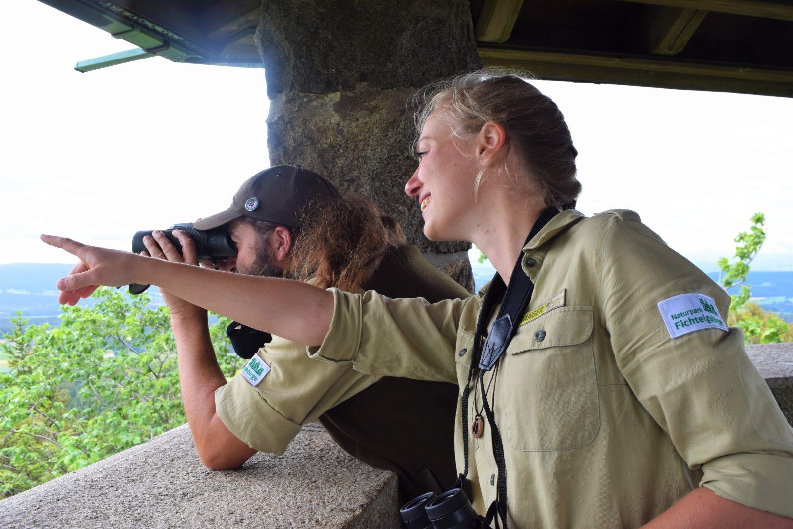 Isabell Niclas und Andreas Hofmann, Naturpark Ranger Fichtelgebirge